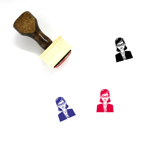 Agent Wooden Rubber Stamp No. 8