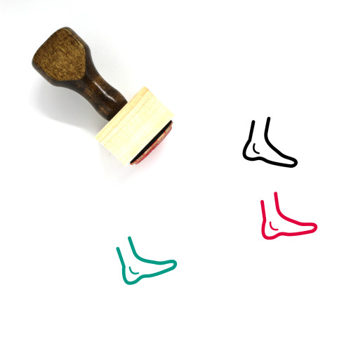 Foot Wooden Rubber Stamp No. 74