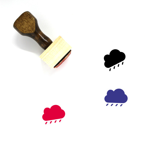 Rainy Cloud Wooden Rubber Stamp No. 20