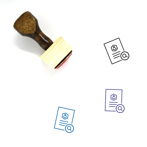 Locate Document Wooden Rubber Stamp No. 4