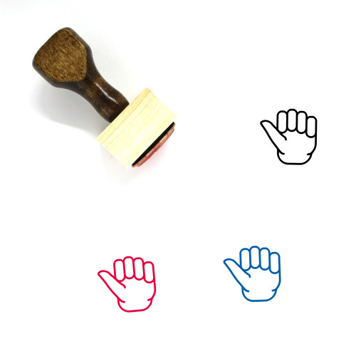 Thumb Wooden Rubber Stamp No. 35