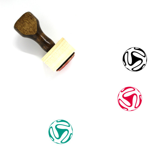 Soccer Ball Wooden Rubber Stamp No. 49