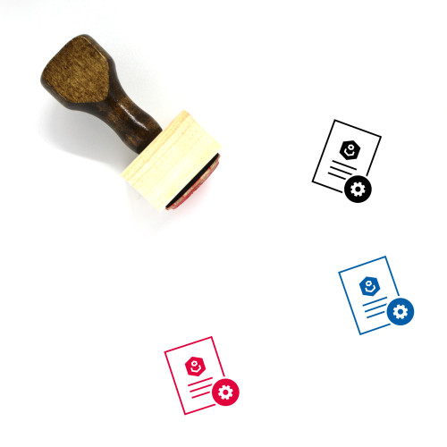 Document Settings Wooden Rubber Stamp No. 5