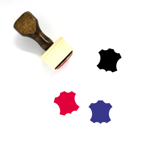 Leather Wooden Rubber Stamp No. 7