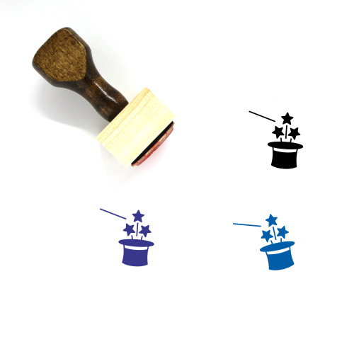 Magic Trick Wooden Rubber Stamp No. 10