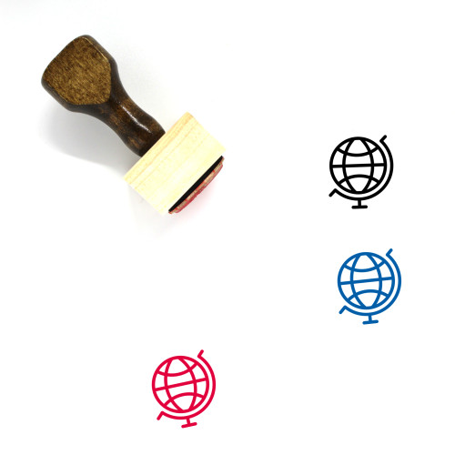 Globe Wooden Rubber Stamp No. 1340