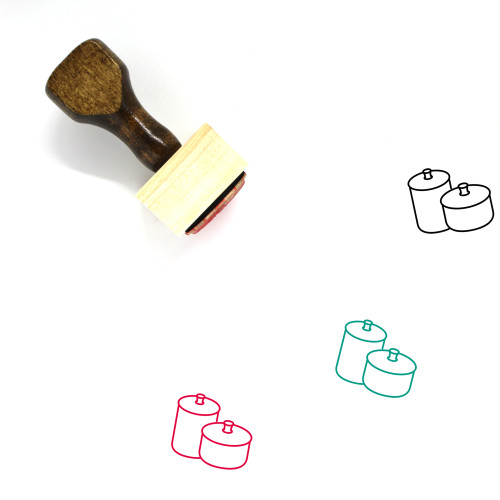 Cookware Wooden Rubber Stamp No. 14
