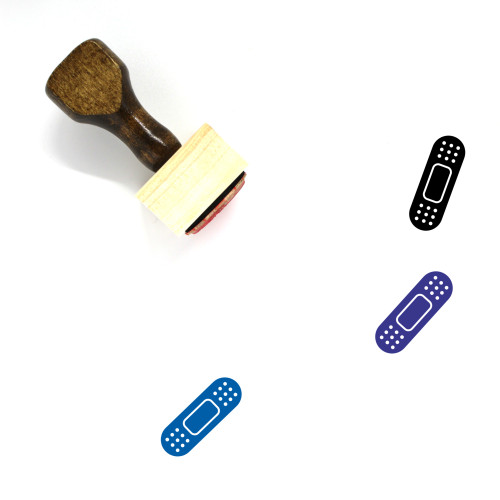 Band Aid Wooden Rubber Stamp No. 86