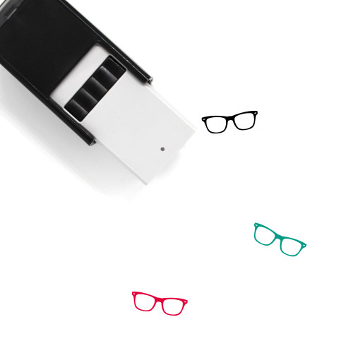 Glasses Self-Inking Rubber Stamp No. 282