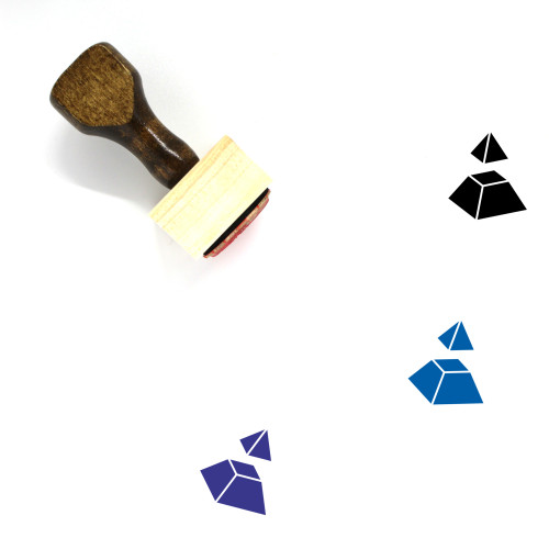 Pyramid Divided Wooden Rubber Stamp No. 7