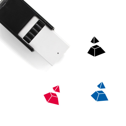 Pyramid Divided Self-Inking Rubber Stamp No. 7