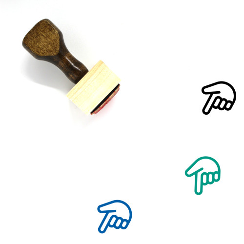Down Wooden Rubber Stamp No. 192