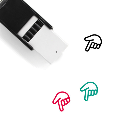Down Self-Inking Rubber Stamp No. 192