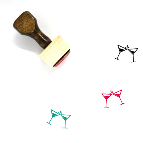 Cheers Wooden Rubber Stamp No. 38