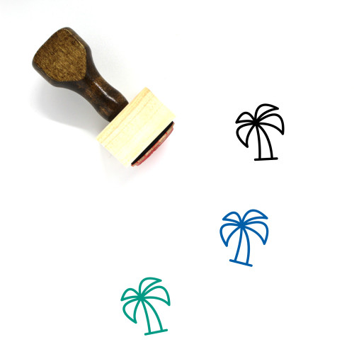 Palm Tree Wooden Rubber Stamp No. 208