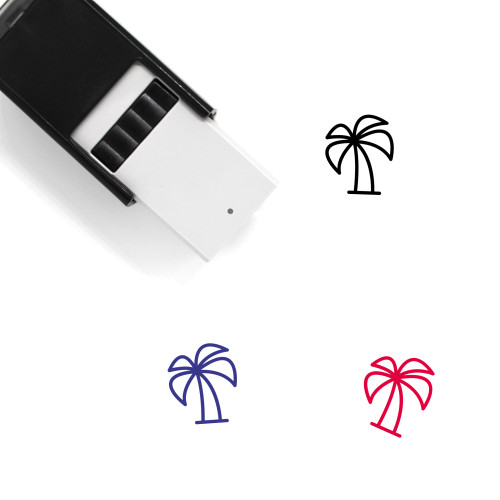 Palm Tree Self-Inking Rubber Stamp No. 208