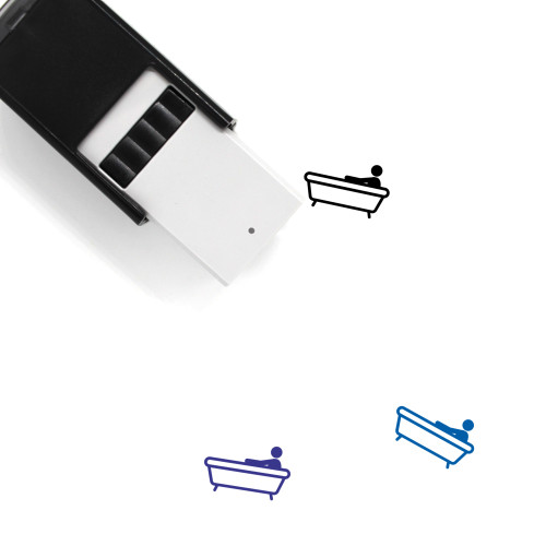 Bath Self-Inking Rubber Stamp No. 11