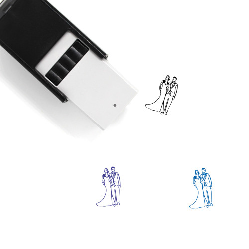 Bride And Groom Self-Inking Rubber Stamp No. 3