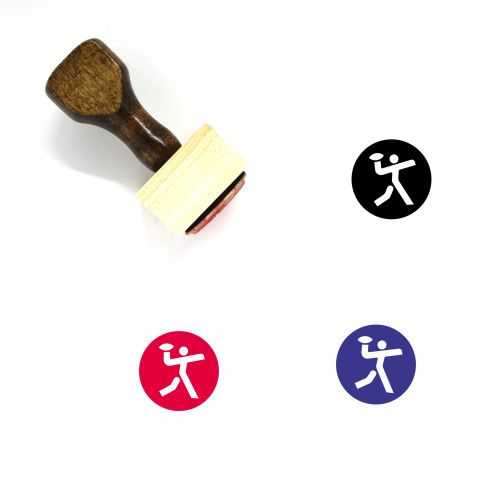 American Football Wooden Rubber Stamp No. 60