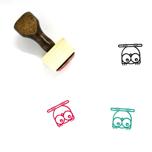 Owl Wooden Rubber Stamp No. 126