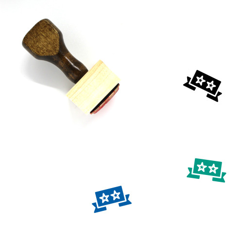Ratings Wooden Rubber Stamp No. 19