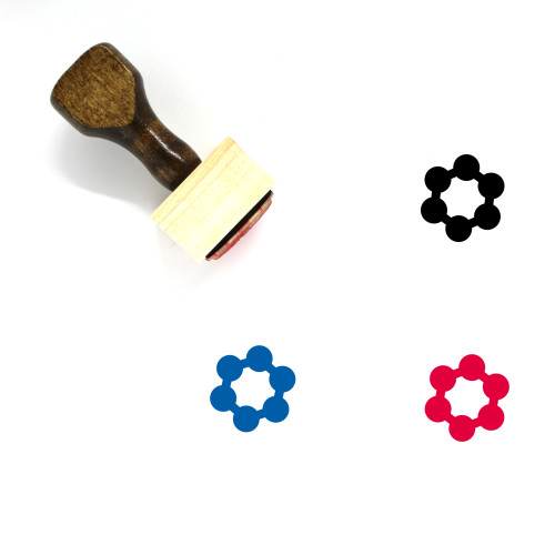 Carbon Ring Wooden Rubber Stamp No. 2