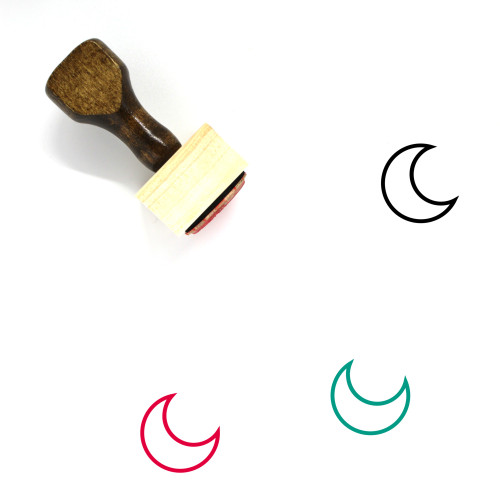 Crescent Moon Wooden Rubber Stamp No. 40