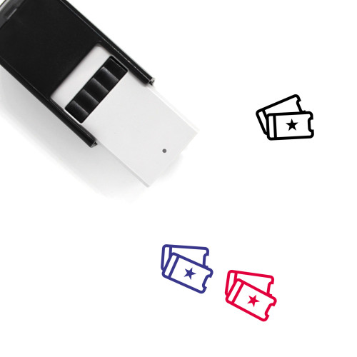 Tickets Self-Inking Rubber Stamp No. 96