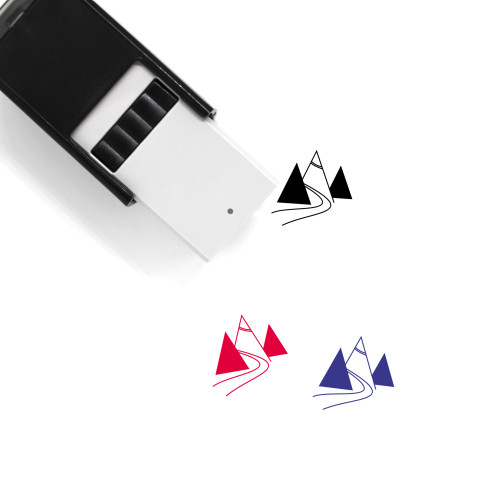 Mountain Trail Self-Inking Rubber Stamp No. 1