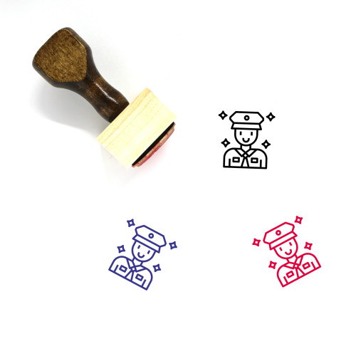 Police Man Wooden Rubber Stamp No. 8