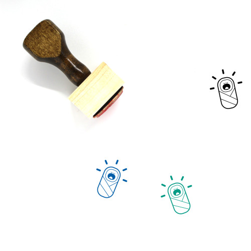 Baby Wooden Rubber Stamp No. 82