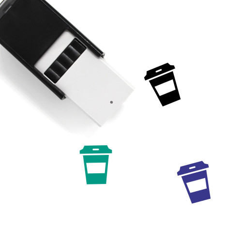 Coffee Self-Inking Rubber Stamp No. 155