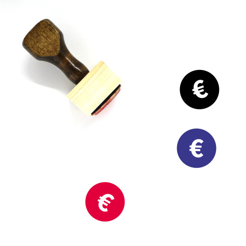 Euro Coin Wooden Rubber Stamp No. 36