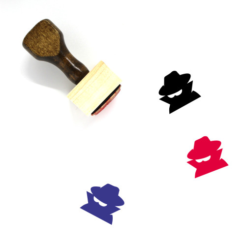 Incognito Wooden Rubber Stamp No. 4