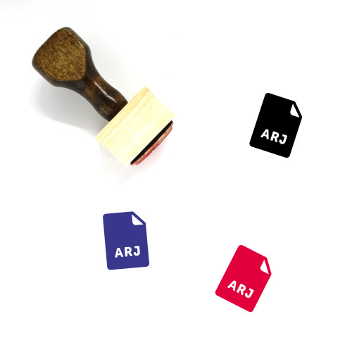 ARJ File Wooden Rubber Stamp No. 1
