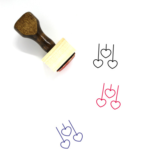 Heart Decorations Wooden Rubber Stamp No. 5