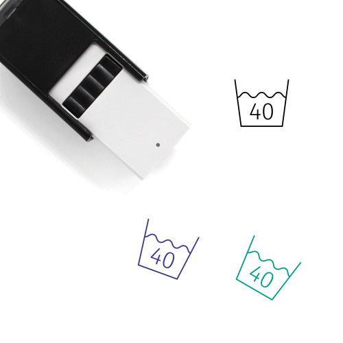 Wash At Or Below 40°C Self-Inking Rubber Stamp No. 2