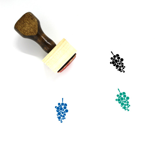 Grapes Wooden Rubber Stamp No. 64