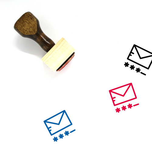 Email Password Wooden Rubber Stamp No. 1