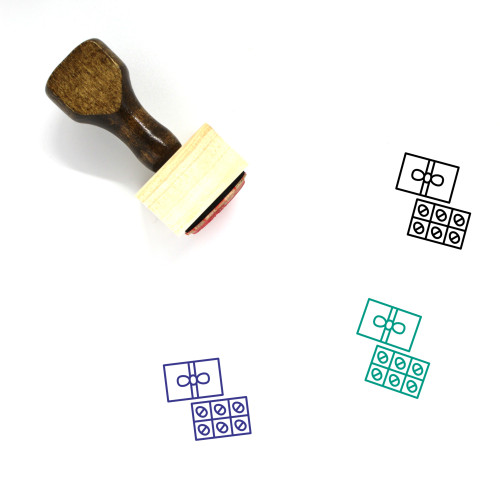 Easter Eggs Wooden Rubber Stamp No. 144
