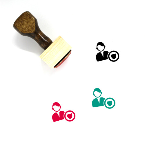 Male User Wooden Rubber Stamp No. 44