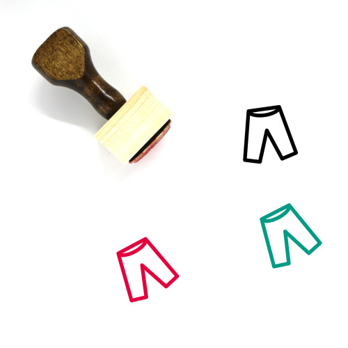 Pants Wooden Rubber Stamp No. 120