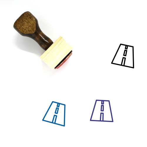 Road Wooden Rubber Stamp No. 83