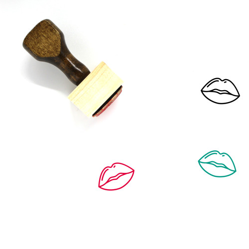 Lips Wooden Rubber Stamp No. 58