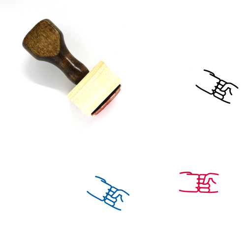 Fist Bump Wooden Rubber Stamp No. 32