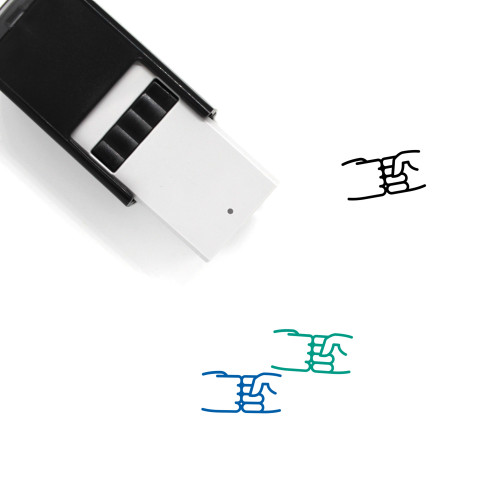 Fist Bump Self-Inking Rubber Stamp No. 32
