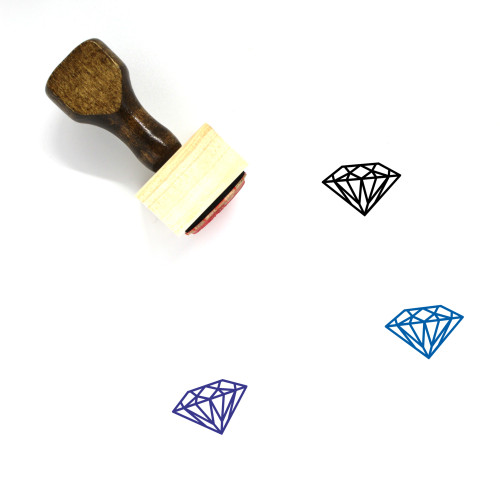 Diamond Wooden Rubber Stamp No. 149