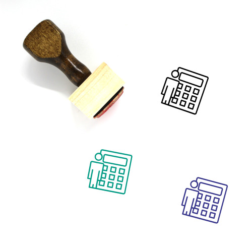Auditor Wooden Rubber Stamp No. 4