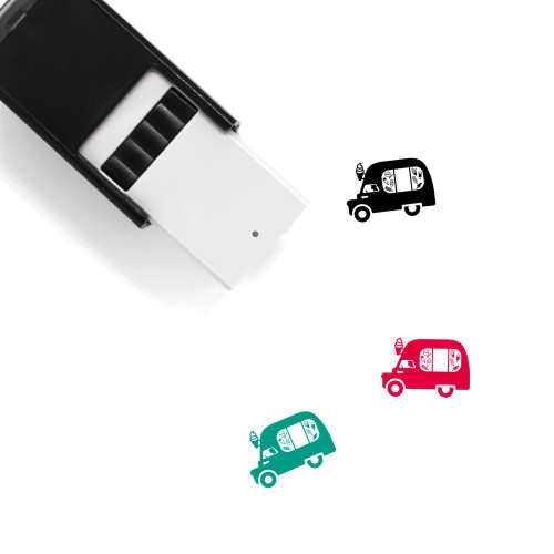 Ice Cream Truck Self-Inking Rubber Stamp No. 18