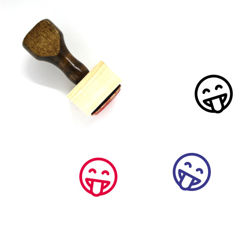 Tongue Out Wooden Rubber Stamp No. 36